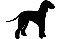 silhuette dog Free Dxf File for CNC