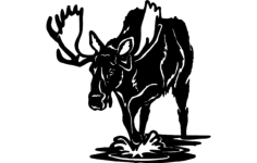 moose Free Dxf File for CNC