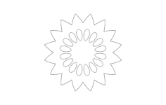 flower design Free Dxf File for CNC