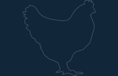 chicken Free Dxf File for CNC