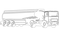 fuel tanker truck Free Dxf File for CNC