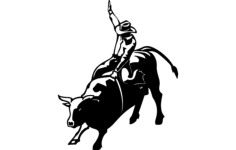 bull rider Free Dxf File for CNC