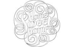 home sweet home Free Dxf File for CNC