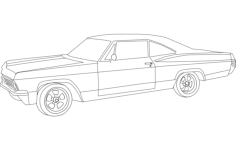 implala car Free Dxf File for CNC