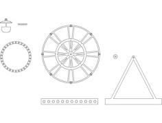 ferris wheel Free Dxf File for CNC