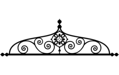 ironwork arch design Free Dxf File for CNC