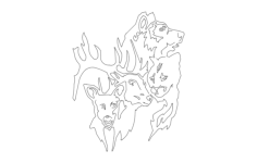 wild animals Free Dxf File for CNC
