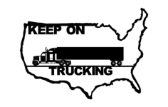 truck drivers across america Free Dxf File for CNC