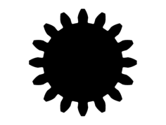gear Free Dxf File for CNC