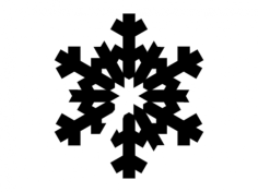 snowflake silhouettes Free Dxf File for CNC