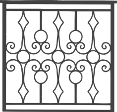 iron grille gate Free Dxf File for CNC