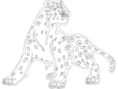 animal mascot cheetah Free Dxf File for CNC