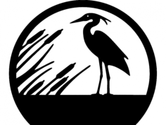garça (heron) Free Dxf File for CNC