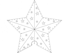 paper star Free Dxf File for CNC