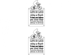 bicycle quot Free Dxf File for CNC