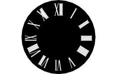 wall clock design Free Dxf File for CNC