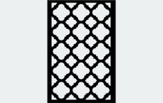 grille Free Dxf File for CNC