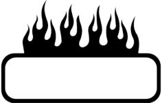 burning frame design Free Dxf File for CNC