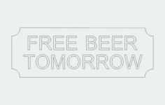 freebeer Free Dxf File for CNC