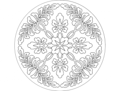 a flor Free Dxf File for CNC