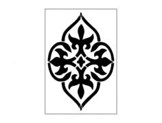 damask design Free Dxf File for CNC