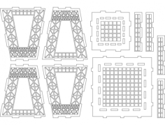 effil tower part 2 Free Dxf File for CNC