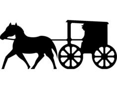 cavalo com carroça Free Dxf File for CNC