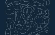 langust iz fanery (palinurus) Free Dxf File for CNC