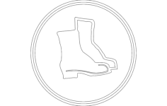 safety shoes Free Dxf File for CNC