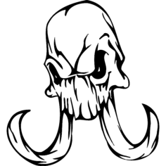 skull 013 Free Dxf File for CNC