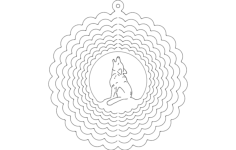 wind spinner wolf Free Dxf File for CNC