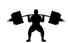 weightlifting silhouette Free Dxf File for CNC