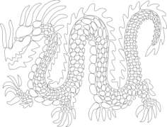 dragon 3 Free Dxf File for CNC