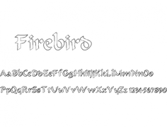firebird marlin-font Free Dxf File for CNC