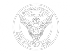 drawing (serbian eagles athletic club) Free Dxf File for CNC