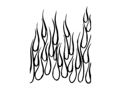 flames up Free Dxf File for CNC