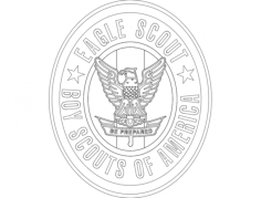 eagle scout Free Dxf File for CNC