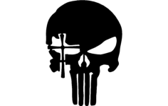 skull with cross eye Free Dxf File for CNC