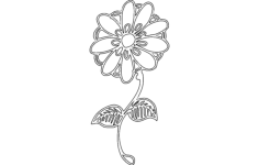 daisy.flower Free Dxf File for CNC