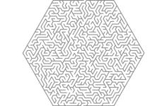 maze hexa shape Free Dxf File for CNC