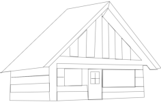 cabin Free Dxf File for CNC