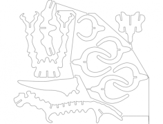 pterax 1 Free Dxf File for CNC