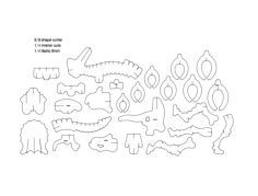 dinosaur 3d puzzle Free Dxf File for CNC
