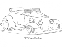 chevy roadster Free Dxf File for CNC