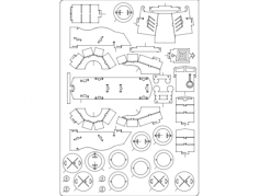 baus navio 3d Free Dxf File for CNC