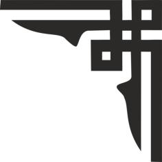 corner pattern design Free Dxf File for CNC