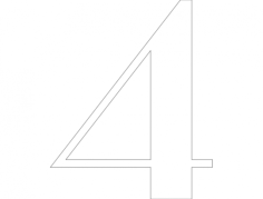 4 number Free Dxf File for CNC