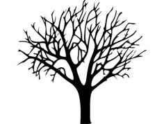bare tree Free Dxf File for CNC