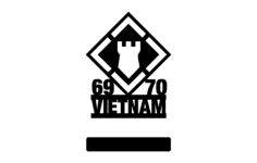 20th engineers 69-70 vietnam w-stand Free Dxf File for CNC