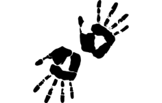 hand print art Free Dxf File for CNC
